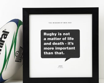 Personalised Rugby Print; Rugby Gift; Sports Gift; Rugby Art; Gift For Him; Gift For Boyfriend; Husband Gift; Sporting Gift; PAP103
