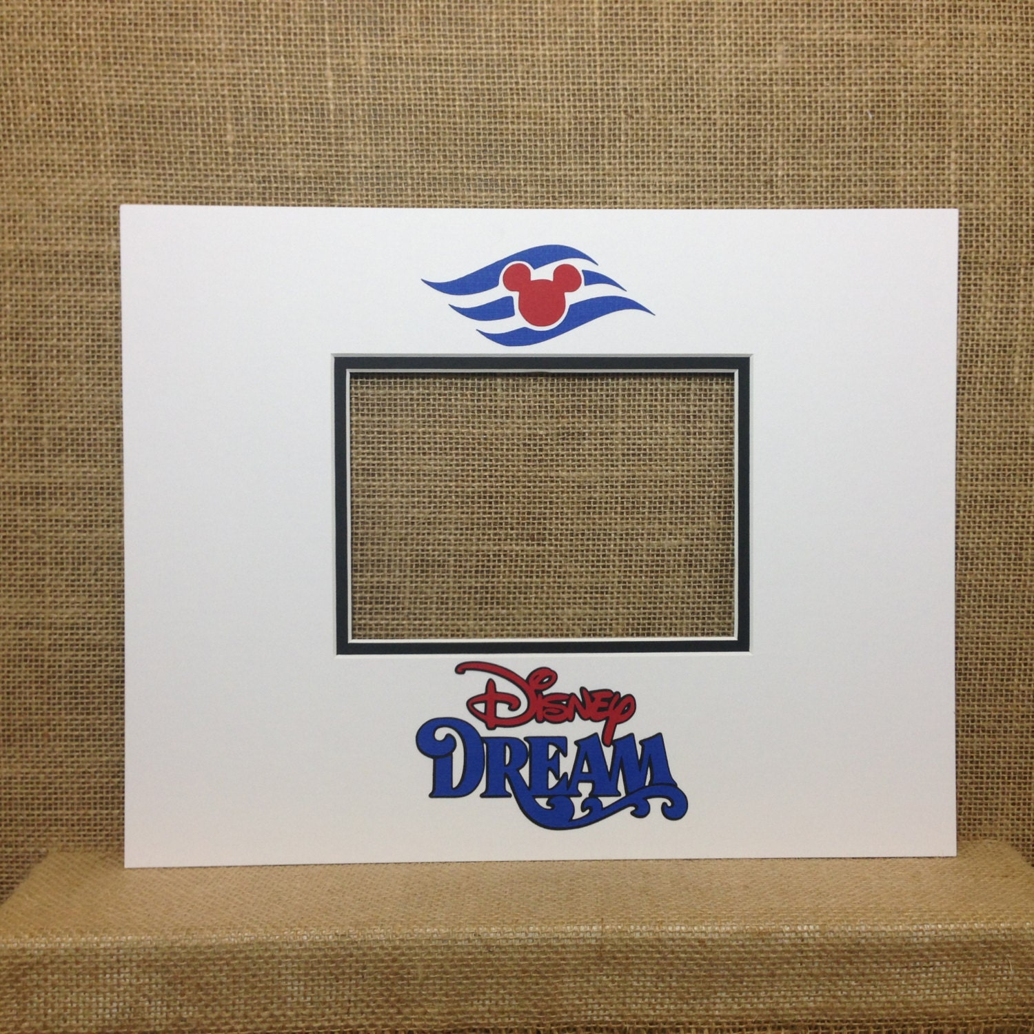 Disney Cruise Autograph Photo Mat Signature Matte 11x14 Mat