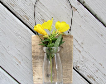 Rustic Wall Hanging Vase