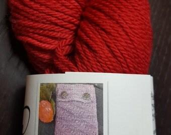 Aran Sock. Superwash Merino Wool, Nylon. 120 yards, 100 Grams, Free Pattern!!