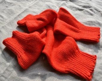 Leg warmers, vintage leg warmers, red leg warmers, bright red leg warmers, legwarmers, red legwarmers, vintage legwarmers, red, old socks