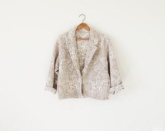 Vintage southwestern jacket / cropped jacket / ethnic blazer