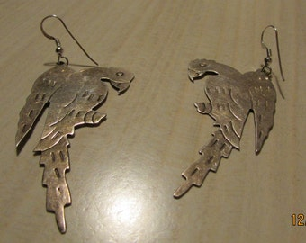 Sterling Silver Pair of Dangle Earrings from Mexico