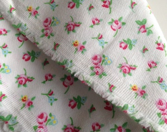 Bamboo Organic Cotton Blend Fabric, Floral Print, Twill Weave, Ditsy Print, Medium Weight, By the Yard, GOTS Dyes, Vegan Friendly,