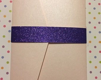 Glitter Belly Band - 1 Inch/25pack