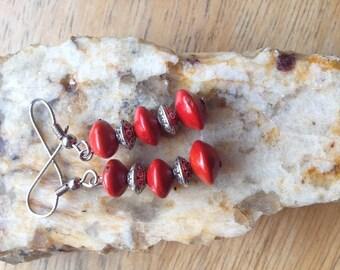 Red Seed Earrings