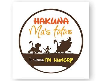 Disney, Lion King, Hakuna Ma's Tatas, Hakuna Matata, Baby, Breastfeeding, Digital, Download, TShirt, Cut File, SVG, Iron on, Transfer