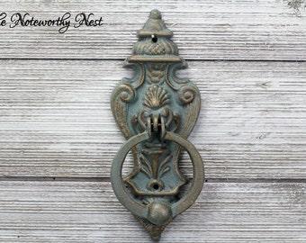 Vintage Style door knocker // vintage style decor // Rustic decor // front door decor // antique style door knocker // Tuscan decor //