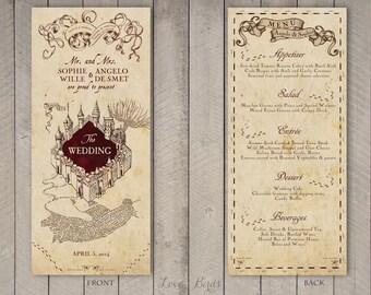 Wedding Menu Harry Potter Marauderu0027s Map   Digital File