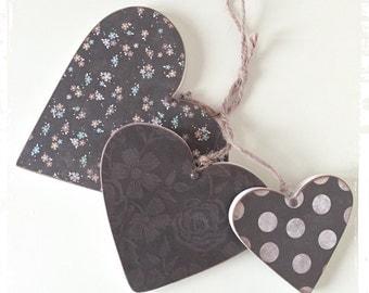 Tripple hanging hearts...