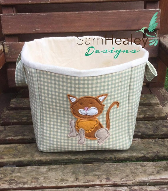 Fabric toy box for your cat