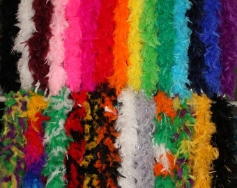 Feather Boas - 6 Feet; 60 grams; Weddings, Theater, Dress Up, 1920's Parties, Costumes, Photo Booth; Retail 9.99 to 14.99 Best Price on Etsy