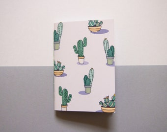 Small Cactus Notebook / Pocket Notebook / Cute Stationery