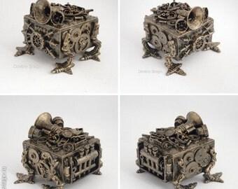 Steampunk jewelry box Dragon