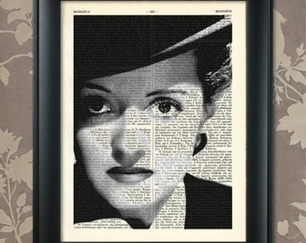 Bette Davis Eyes, Bette Davis print, Bette Davis art, Bette Davis poster, Bette Davis wall art, Vintage Hollywood, Movie Star