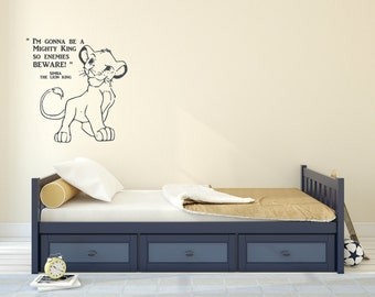 I'm gonna be a mighty king wall decal.