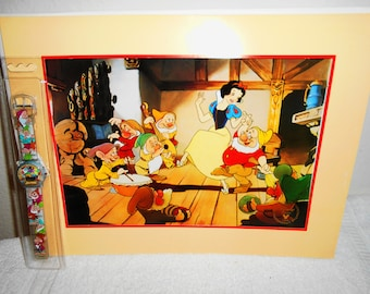 Disney Snow White Lithograph and Special Promo Watch/Commerorative Edition Stamped/Watch new in Packaging/Re-Released pre order.1994