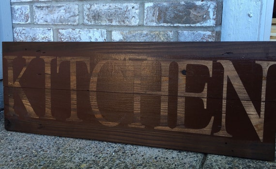 Rustic Kitchen Sign In Red Kitchen Sign Rustic By RedRoanSigns