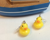 "Handmade ""Rubber Duck"" earrings.....bathtime!"