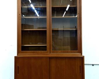 Danish mod teak credenza / bookshelf / storage by Poul Hundevad