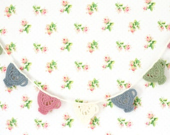 Crochet Teacup Garland - Pastel