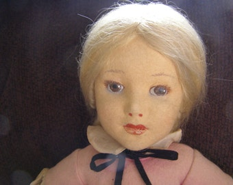 """Gorgeous Italian Lenci Child - 350/A Series - Looks like 1920s Actress Mary Pickford - 19"""" Tall"""