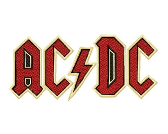 ACDC Logo...Instant Download... Pattern Fill Machine Embroidery DESIGN NO. 567
