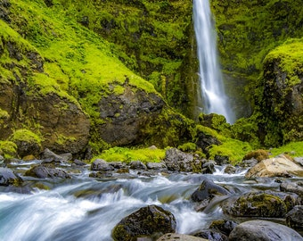 Icelandic Waterfall- Wall Art, Nature Print, Home Decor, Art Photography, Print, Wall Picture
