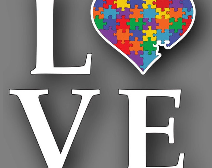Autism Awareness Heart Car Truck Decal Sticker