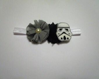 Star Wars Inspired Headband, Storm Trooper Inspired Headband, Star Wars Inspired Hair Clip, Storm Trooper Inspired Hair Clip