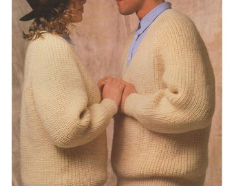 "Vintage Fisherman Rib Sweater for Male or Female, Boy or Girl Aran Size 32"" to 50"""
