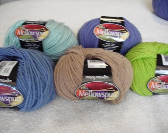 Mary Maxim® Ultra Mellowspun Yarn Pt 4, PLEASE check desciption for color quantities available