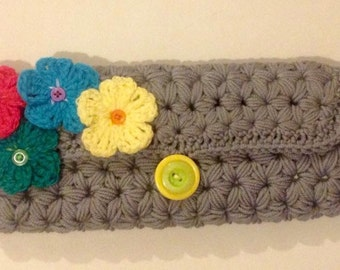 Beautiful Merino Clutch Purse OOAK