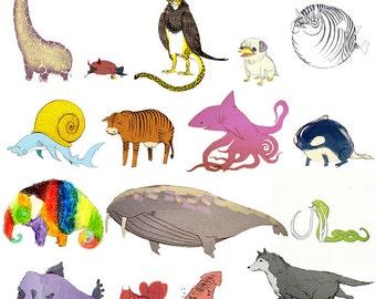 Hybrid Animal Art Prints