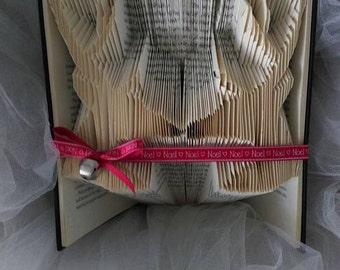 Hand folded stags heads book