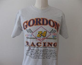 Jeff Gordon T-shirt Racing Nascar Vintage 90s Adult Large