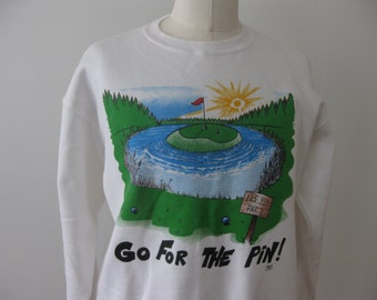 Golf Vintage Go For The Pin Sweatshirt Adult XL