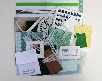 Junk Journal Kit, Paper Ephemera Kit, Journal Starter Kit, Journal Accessories, Art Journal Kit, Smashbook Filler Kit, Mixed Media Set,