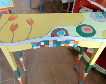 table etagere hand painted