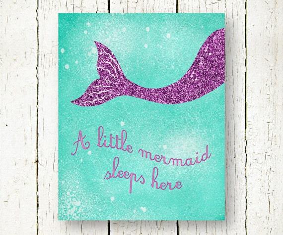 Arthouse Glitter Detail Kids Girls Bedroom Wallpaper: Mermaid Printable Sea Foam Purple Baby Girls Room Nursery Wall