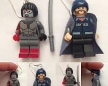 Lego Suicide Squad Katana and Captain Boomerang earrings