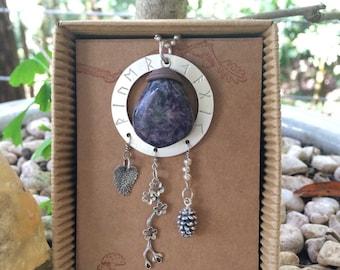 River Magic Charoite Spirit Stone Talisman