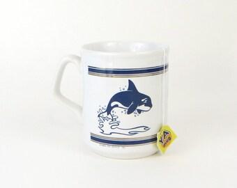 vintage Sea World Shamu orca mug