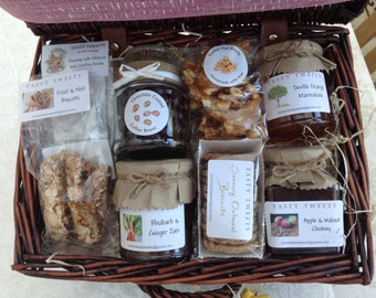Hamper basket homemade food wedding, housewarming, anniversary, birthday present