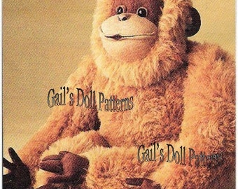 "Vintage Pattern for 20"" Orangutan"