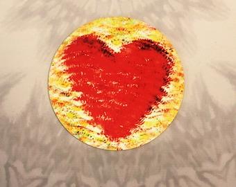 Heart Outdoor Magnet