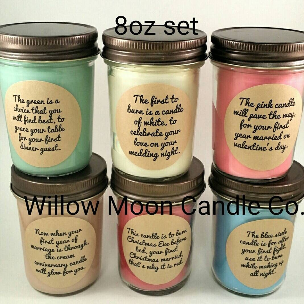 Wedding Gift Candles: Wedding Or Bridal Shower Candle Poem Gift Set 1st Year