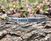 Mama tried   merle Haggard inspired silvercuff bracelet   country lover gift