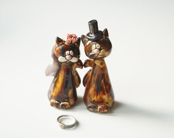 Wedding cake topper,  Cat cake topper, Cat, custom cake topper