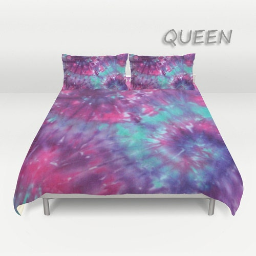 Duvet Cover Comforter Cover Tie Dye Bedding Spiral Purple Pink